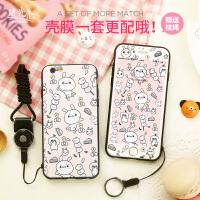萌萌兔 �O果6S手�C�す枘z防摔���iphone6plus全包�炖K卡通保�o套