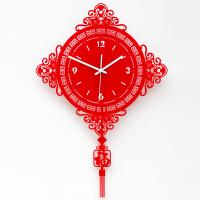 挂钟客厅静音客厅个性创意时尚钟中国结石英钟