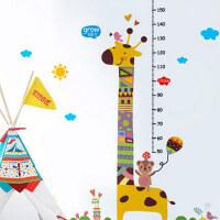 宝宝身高贴可移除儿童墙贴量高度动物装饰贴纸幼儿园可爱贴画
