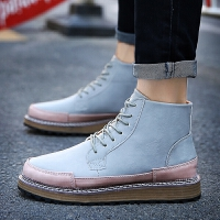 DAZED CONFUSED潮男布洛克男鞋子英伦男士高帮鞋复古板鞋高帮休闲皮鞋潮鞋男