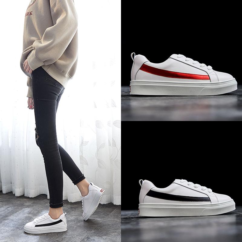 ZHR2018春季新款小白鞋厚底板鞋平底运动鞋休闲鞋子单鞋百搭女鞋M221