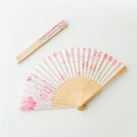 古风折叠扇子中国风古典折扇日式和风樱花小扇子女舞蹈跳舞扇夏季