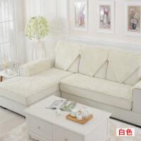 加密毛毛虫雪尼尔沙发垫子布艺定做欧式沙发毛绒坐垫防滑四季