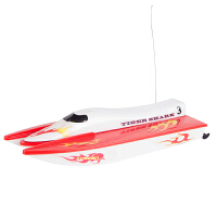 电动遥控双体水上摩托艇高速快艇儿童玩具船模型新小虎鲨2.4G