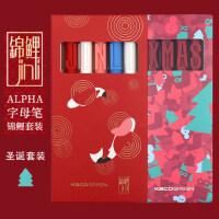 KACO书源字母笔锦鲤限定中性笔套装中国风古风圣诞复古马卡龙套装创意学生用黑色水笔按动考试用签字笔0.5mm