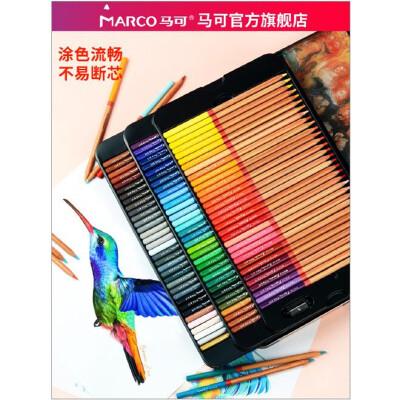 马可正品美术设计手绘雷诺阿48 72 100色油性彩色铅笔3100彩铅包邮美术油性彩色铅笔绘画