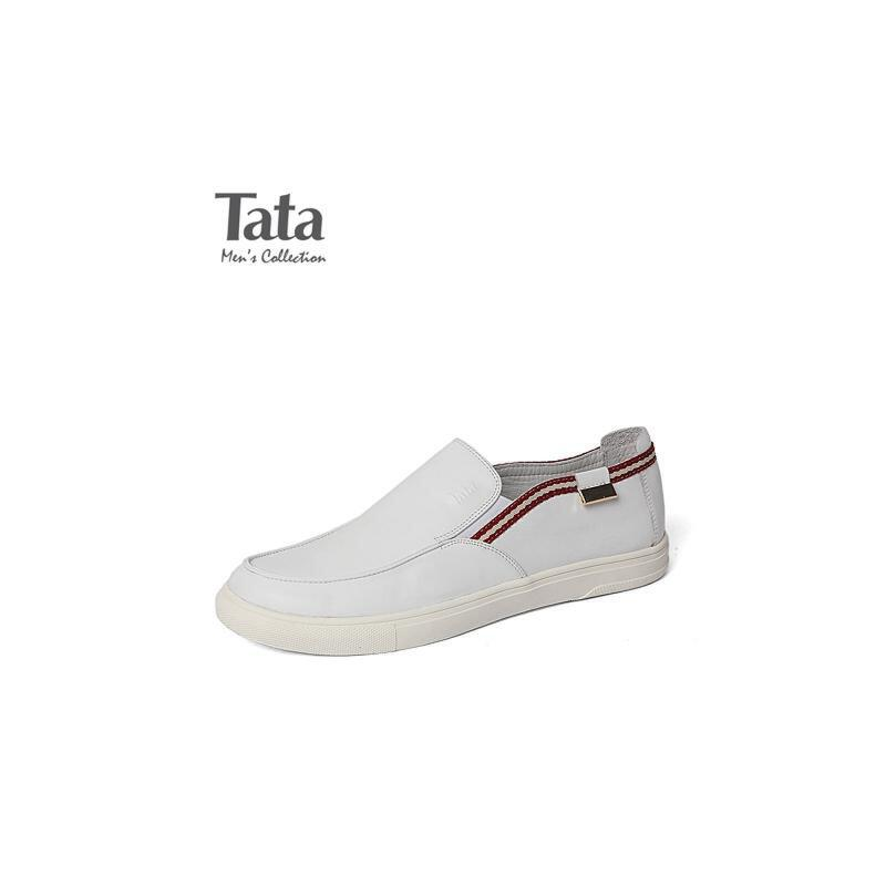 Tata/他她春季专柜同款牛皮革男休闲鞋F6622AM6 专柜1