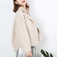 秋冬双面呢大衣女短款英伦风羊毛韩版宽松呢外套