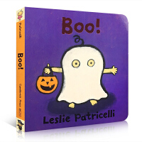 【全店300减100】英文原版 Boo 名家 Leslie Patricelli 万圣节绘本 启蒙纸板书宝宝生活好习惯养