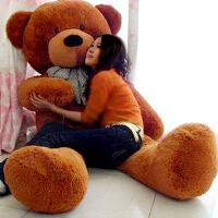 六一儿童节礼物毛绒玩具熊公仔熊猫抱抱熊女生日六一儿童节礼物布娃娃大抱枕玩偶 深棕泰迪熊 直角量2.5米(超大号)送玫瑰