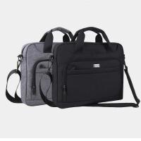 文件包帆布加厚多层大容量手提办公包男14寸电脑包单肩斜跨业务包