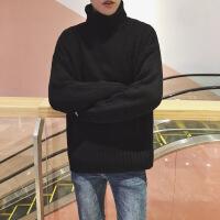 高领毛衣男士韩版潮流情侣原宿风宽松针织衫外套男秋冬装2018新款