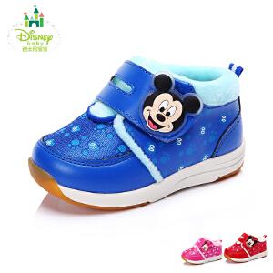【99元任选2双】迪士尼童鞋秋冬季男女童旅游鞋宝宝鞋幼童休闲鞋 (0-4岁可选) DH0040