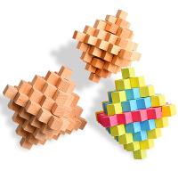 儿童拆装玩具 木制孔明锁 古典玩具 榉木大菠萝