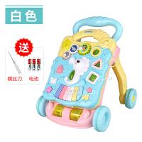 婴儿学步手推车可调速婴儿学步车手推车多功能防侧翻6-7-18月男女宝宝可调速音乐助步车