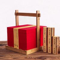 创意茶叶包装盒红茶礼盒空盒小茶罐包装纸盒茶叶罐大红袍通用