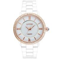 白色陶瓷女表时尚潮流休闲石英表女士水钻手表