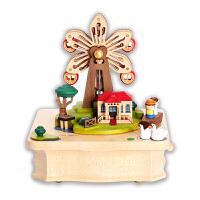 音乐盒八音盒木质女生儿童生日礼物猫咪弹钢琴创意旋转