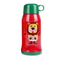 儿童保温杯带吸管 600ml儿童水杯学生宝宝水壶男女 不锈钢婴儿保温壶 狮子王