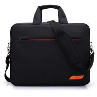 BRINCH 联想戴尔华硕宏基商务男女手提单肩电脑包15寸15.6寸斜跨笔记本包 BW-206 黑色