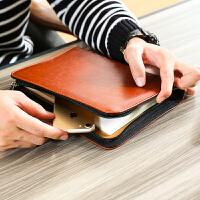 商务活页笔记本文具记事本拉链包多功能本子手账A5经理夹定制