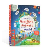 英文原版 Lift-the-flap Questions and Answers about Our World 关于世