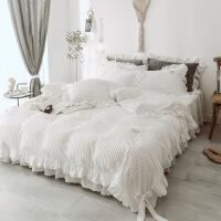 冬季兔兔绒保暖四件套珊瑚绒加厚公主风床裙加绒网红少女心