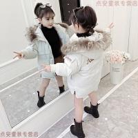 女童中长款2018新款儿童棉衣加厚女孩棉袄中大童洋气冬装外套