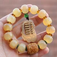 佛珠手串苹果园款配菩提根龙柱如意算盘男女式手链
