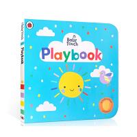 英文原版 Baby Touch:Playbook宝宝触摸书:一起玩大开本纸板洞洞书认知单词汇开拓思维亲子互动趣味阅读翻