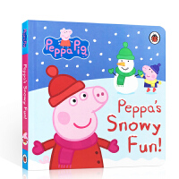 英文原版Christmas圣诞绘本 Peppa Pig Snowy Fun粉红猪小妹佩奇玩雪天乐趣 Christmas