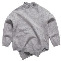 童装男童毛衣套头儿童高领针织衫线衣秋冬款男孩