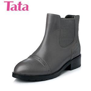 Tata/他她 年时尚牛皮革女靴2HT28DD5