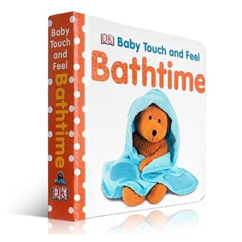 英文原版儿童纸板书Bathtime (Baby Touch and Feel)洗澡时间 DK出版社