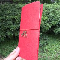 创意毛毡旅行记事本 活页日记本 复古手工笔记本 DIY配件