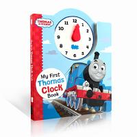 【全店300减100】英文原版 时钟书 时间管理 Thomas and Friends my first Thomas