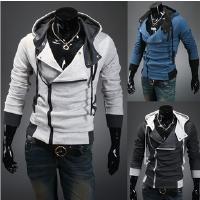 新款2018秋冬装韩版男士连帽卫衣外套男士开衫修身卫衣男 男士卫