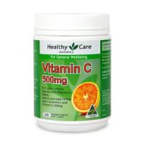 保税区发货 Healthy Care 澳大利亚 维生素C咀嚼片 调节免疫美容养颜 500片 海外购