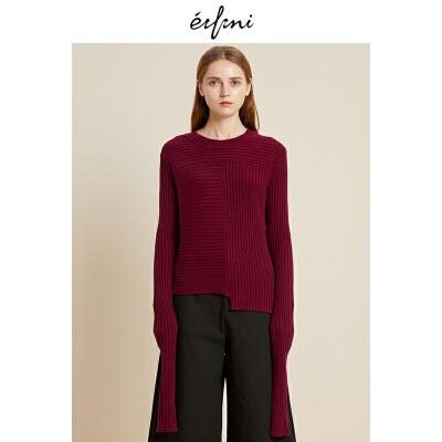 2件4折 伊芙丽新款韩版时尚女装毛针织衫1188933531