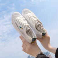 2018夏季新款镂空鞋子女韩版学生原宿风ulzzang百搭平底帆布鞋女