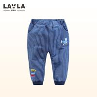 LAVLA童装 春秋款男童长裤1-3岁宝宝冬季休闲儿童装加绒裤子