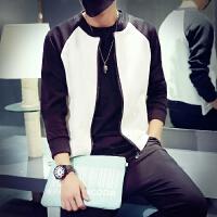 男士夹克外套薄款韩版秋季学生青年 黑白棒球服夏大码上衣潮
