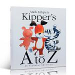 英文原版廖彩杏书单45 (送音频) Kipper's A to Z 儿童入门绘本字母启蒙韵文阅读3-8岁儿童图画书 让