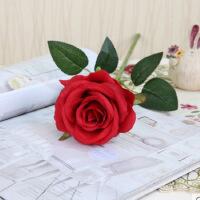 仿真玫瑰花 假花 装饰花婚庆玫瑰单支 客厅餐桌家居装饰品摆件插花