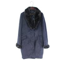 O06059秋冬精品新款简约隐形扣显瘦好搭配女纯色修身中长毛呢外套