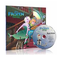 英文原版绘本 Frozen Fever 冰雪奇缘+CD 同名热播动画图画书 迪士尼系列动画故事书 儿童启蒙英语训练辅导