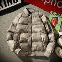冬季新款潮牌迷彩棉服男士韩版加厚棉衣潮流学生冬天棉袄外套