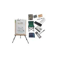 美术套装 20件素描工具套装 画架画板画凳 素描铅笔套装 写生素描套装