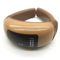 智能颈椎按摩仪器电动家用多功能肩腰部脖子充电式脉冲电极片 卡其色带遥控 电极片
