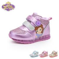 迪士尼Disney童鞋18冬季新款儿童运动鞋格力特闪耀女童公主鞋学生鞋时尚儿童休闲鞋 (5-10岁可选) DS2096